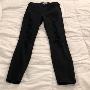 Kendall + Kylie black ripped jeans